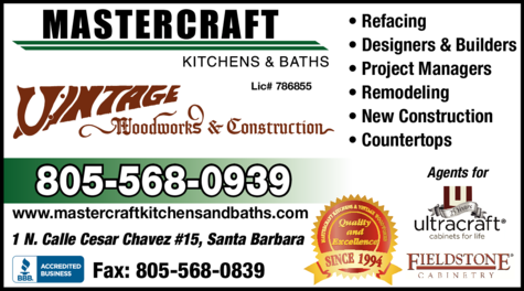 Yellow Pages Ad of Mastercraft Kitchens & Baths
