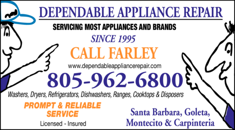 Yellow Pages Ad of Farley's Dependable Appliance Repair