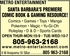 Yellow Pages Ad of Metro Entertainment