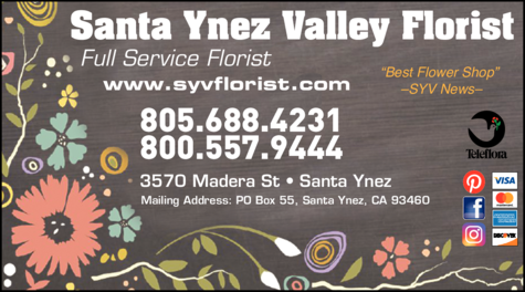 Yellow Pages Ad of Santa Ynez Valley Florist