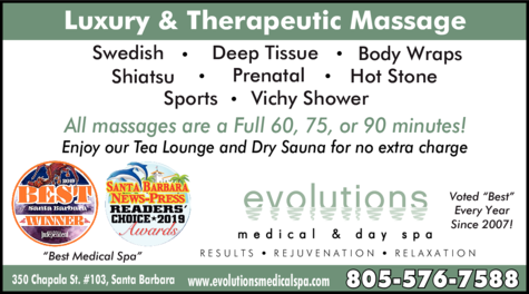 Yellow Pages Ad of Evolutions Medical & Day Spa