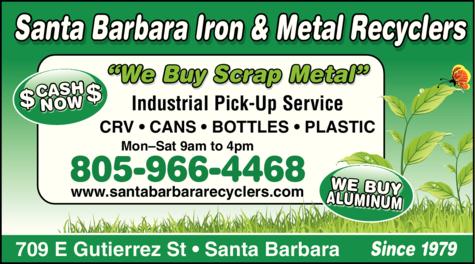 Yellow Pages Ad of Santa Barbara Iron & Metal Recyclers