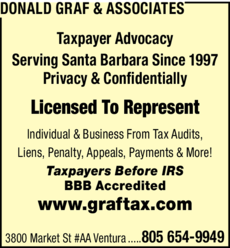 Yellow Pages Ad of Donald Graf & Associates