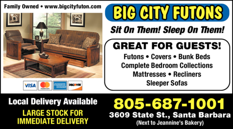Yellow Pages Ad of Big City Futons