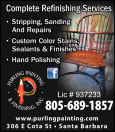 Yellow Pages Ad of Purling Painting & Finishing Inc