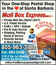 Yellow Pages Ad of Mail Box Express
