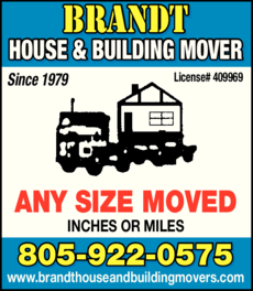 Yellow Pages Ad of Brandt House & Building Movers