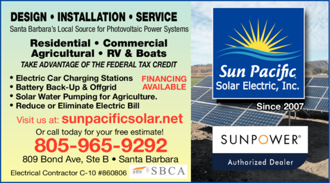 Yellow Pages Ad of Sun Pacific Solar Electric Inc