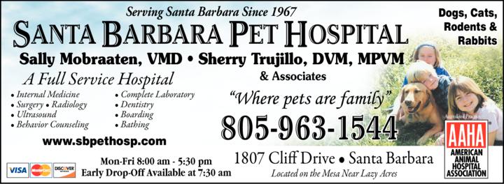 Yellow Pages Ad of Santa Barbara Pet Hospital