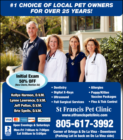 Yellow Pages Ad of St Francis Pet Clinic