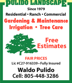 Yellow Pages Ad of Pulido Landscape