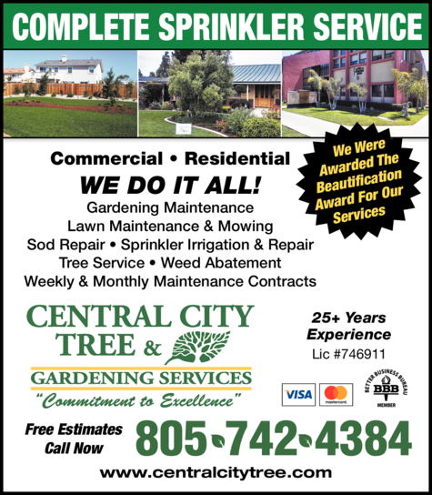 Print Ad of Central City Tree & Landscape Services