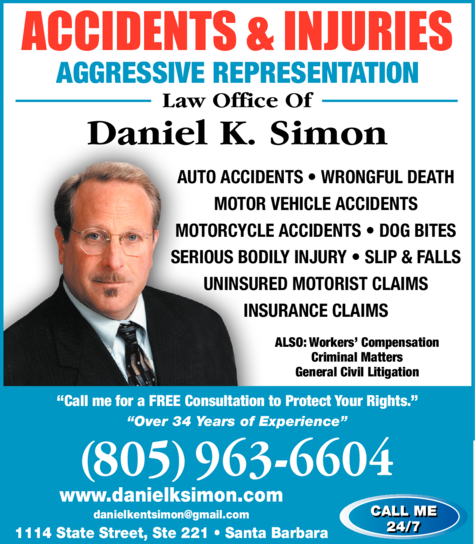 Yellow Pages Ad of Simon Daniel K Law Office