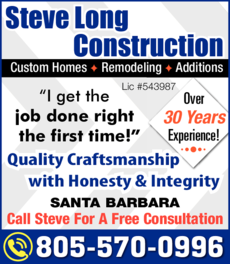 Yellow Pages Ad of Steve Long Construction