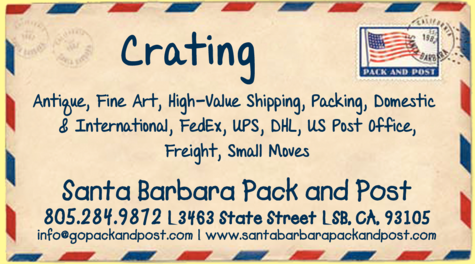 Yellow Pages Ad of Santa Barbara Pack And Post