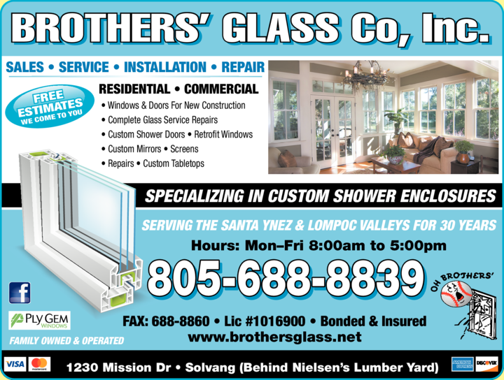 Yellow Pages Ad of Brothers' Glass Co Inc