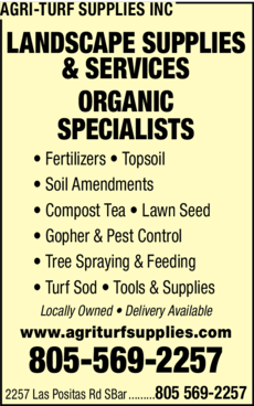 Yellow Pages Ad of Agri-Turf Supplies Inc