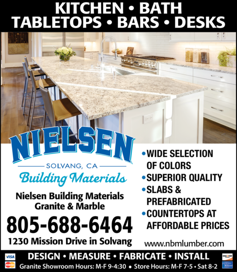 Yellow Pages Ad of Nielsen Building Materials Inc