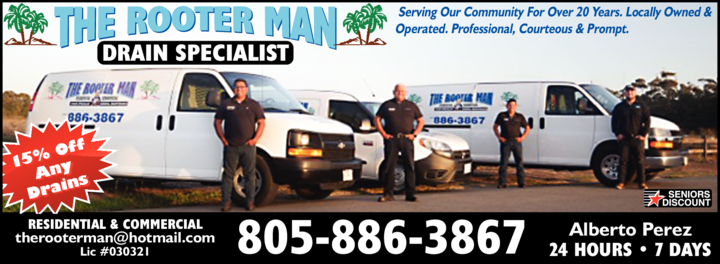 Yellow Pages Ad of Rooter Man The