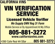 Yellow Pages Ad of California Vins