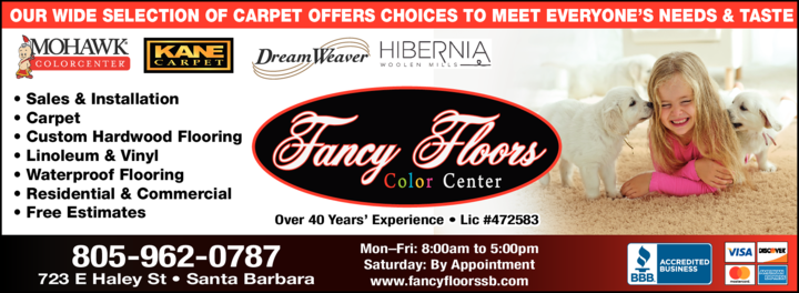 Yellow Pages Ad of Fancy Floors Color Center