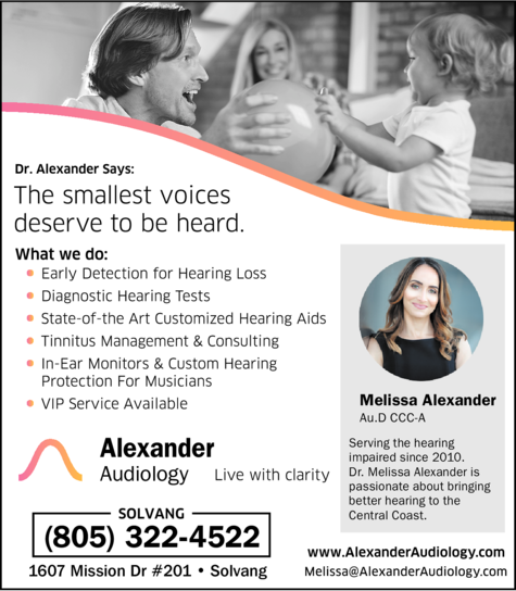 Yellow Pages Ad of Alexander Audiology - Melissa Alexander Aud Ccc-A