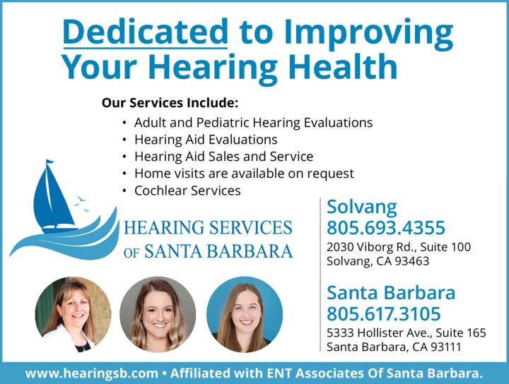 Yellow Pages Ad of Hearing Services Of Santa Barbara