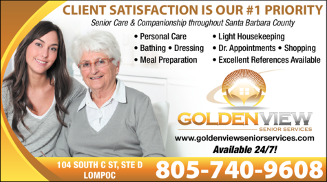 Yellow Pages Ad of Golden View Senior Services