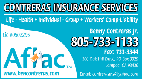 Yellow Pages Ad of Contreras Insurance Services