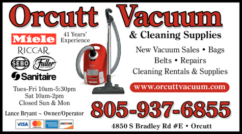 Yellow Pages Ad of Orcutt Vacuum & Cleaning Supplies