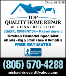 Yellow Pages Ad of Top Quality Home Repair & Construction