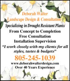 Yellow Pages Ad of Deborah Walter Landscape Design