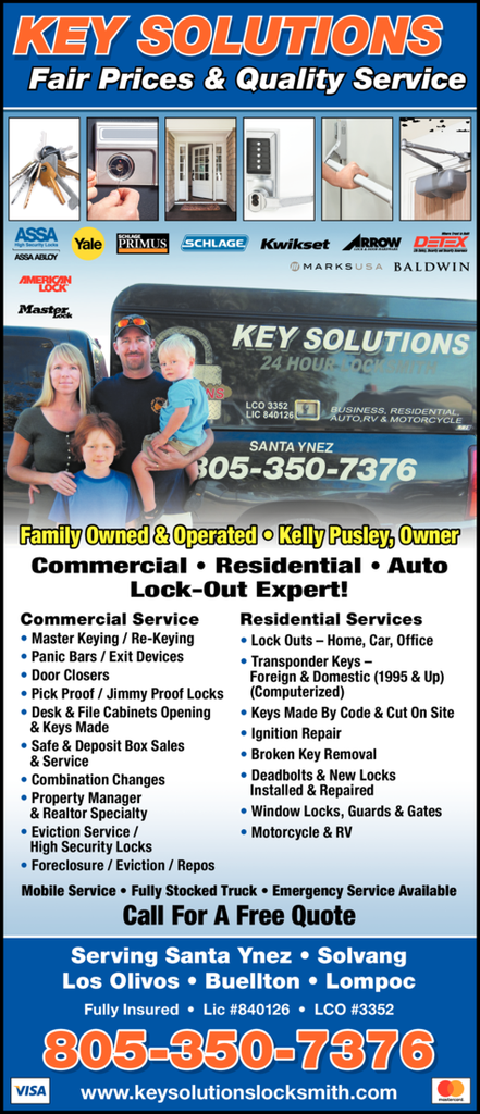 Yellow Pages Ad of Key Solutions
