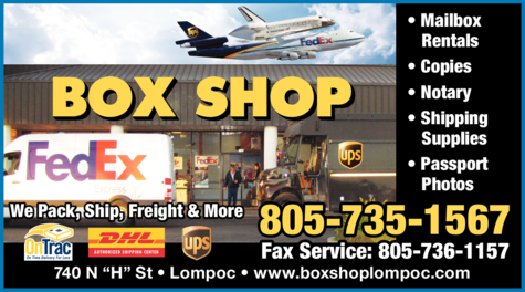 Yellow Pages Ad of Box Shop