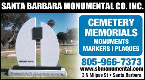 Yellow Pages Ad of Santa Barbara Monumental Co Inc
