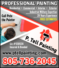 Yellow Pages Ad of P Tell Painting