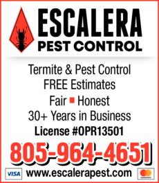 Yellow Pages Ad of Escalera Pest Control