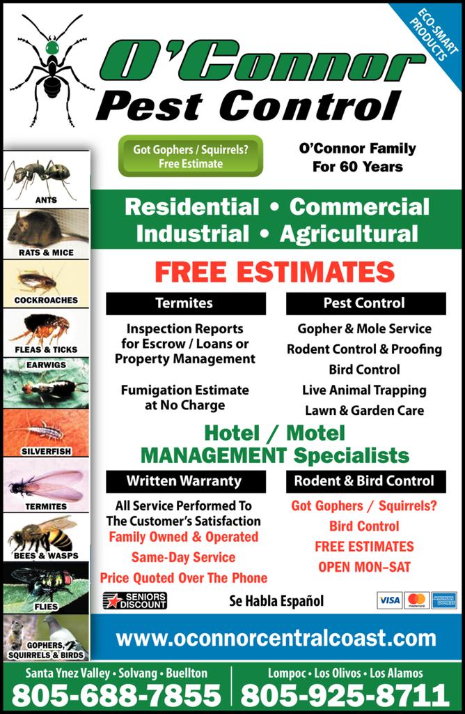 Print Ad of O'Connor Family Pest Control