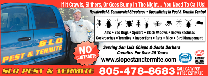 Yellow Pages Ad of Slo Pest & Termite