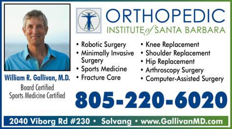 Print Ad of Orthopedic Institute Of Santa Barbara