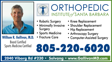 Yellow Pages Ad of Orthopedic Institute Of Santa Barbara