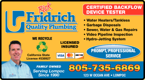 Yellow Pages Ad of Fridrich Quality Plumbing