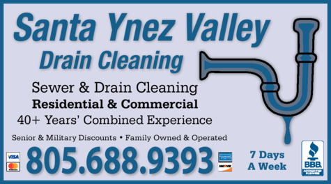 Yellow Pages Ad of Santa Ynez Valley Drain Cleaning
