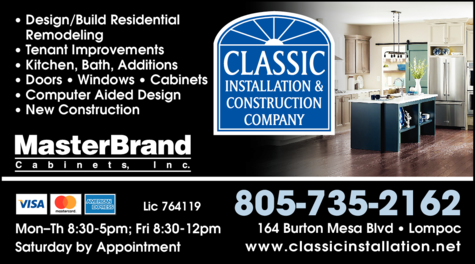 Print Ad of Classic Installation & Construction Company