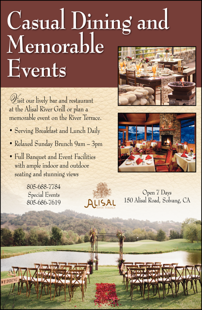 Yellow Pages Ad of River Grill At The Alisal