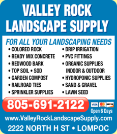Print Ad of Valley Rock Landscape Supply