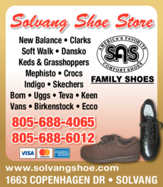Yellow Pages Ad of Solvang Shoe Store