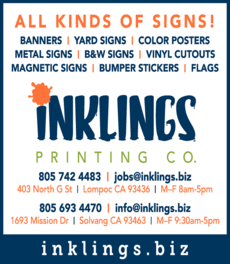 Yellow Pages Ad of Inklings Printing Co
