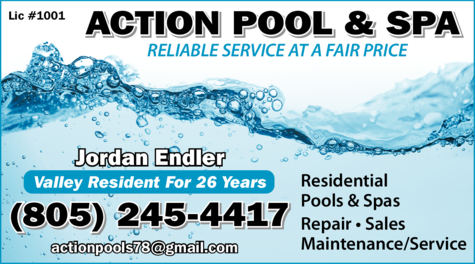 Yellow Pages Ad of Action Pool & Spa