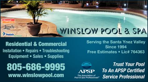 Yellow Pages Ad of Winslow Pool & Spa